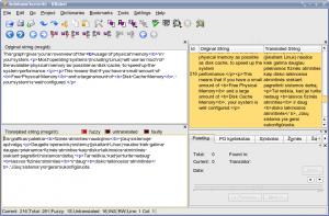 KBabel langas su failu, turinčiu html formato žymes